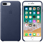 Apple Coque en cuir Bleu nuit Apple iPhone 8 Plus / 7 Plus