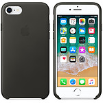 Apple Coque en cuir Anthracite Apple iPhone 8 / 7