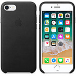 Apple Coque en cuir Noir Apple iPhone 8 / 7