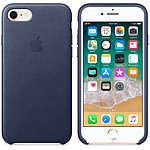 Apple Coque en cuir Bleu nuit Apple iPhone 8 / 7