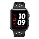 Apple Watch Nike+ Series 3 GPS Aluminium Gris Sport Anthracite/Noir 38 mm