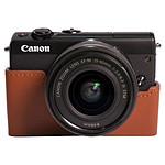 Canon EOS M100 Noir + EF-M 15-45 mm IS STM + Étui marron