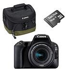 Canon EOS 200D + 18-55 IS STM + 100EG + SanDisk Carte mémoire microSDHC 16 Go