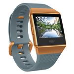 Fitbit Ionic Bleu / Orange métallisé