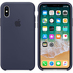 Apple Funda de silicona Azul noche Apple iPhone X