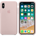 Apple Funda de silicona Rosa de la arena Apple iPhone X