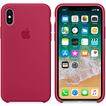 Apple Funda de silicona Rojo rosa Apple iPhone X