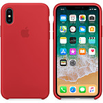 Apple Coque en silicone (PRODUCT)RED Apple iPhone X