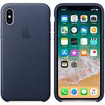 Apple Coque en cuir Bleu nuit Apple iPhone X