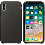 Apple Coque en cuir Anthracite Apple iPhone X