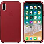 Apple funda en cuero (PRODUCT)RED Apple iPhone X