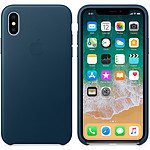 Apple Coque en cuir Bleu cosmos Apple iPhone X