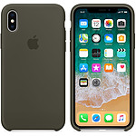 Apple Coque en silicone Olive sombre Apple iPhone X