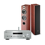 Yamaha MusicCast R-N402D Argent + Focal Chorus 714 Rosewood