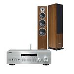 Yamaha MusicCast R-N402D Argent + Cabasse Alderney MT32 Noyer