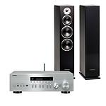 Yamaha MusicCast R-N402D Argent + Cabasse Alderney MT32 Noir satin