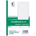 Elve Carnet Quadrillé 5 x 5 mm, 50 feuillets tripli