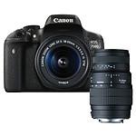 Canon EOS 750D + EF-S 18-55mm f/3.5-5.6 IS STM + SIGMA 70-300mm f/4-5.6 DG Macro