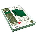 Exacompta Placas de cobertura de cuero verde A4 x 100