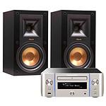 Marantz Melody Stream M-CR611 Argent Or + Klipsch R-15M