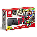 Nintendo Switch + Joy-Cons (rouge) + Super Mario Odyssey