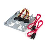 """StarTech.com Kit de Montage pour 2 HDD / SSD 2,5"""" SATA dans Baie 3,5"""""""