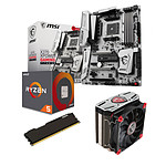 Kit Upgrade PC AMD Ryzen 5 1600 MSI X370 XPOWER GAMING TITANIUM 4 Go