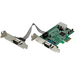 StarTech.com Carte PCI-E avec 2 ports DB-9 - UART 16550
