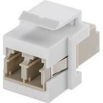 Goobay coupleur fibre optique LC Duplex pour boitier réseau type Keystone