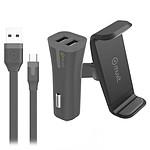 Muvit Pack Charge Voiture USB Noir