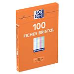 Oxford Boite de 100 fiches Bristol 210 x 297 mm unis couleurs assortis