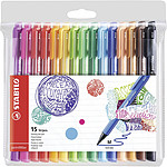 STABILO pointMax 15 stylos feutres 0.8 mm