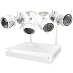 EZVIZ ezWireless Kit - Vault Plus 4 canaux +  4 caméras IP ezGuard Plus