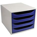 ECO Bloc de classement 4 tiroirs Bleu