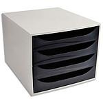 ECO Bloc de classement 4 tiroirs Noir