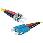 Jarretière optique duplex monomode 2mm OS2 ST-UPC/SC-UPC (1 mètre)
