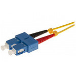 Jarretière optique duplex monomode 2mm OS2 SC-UPC/SC-UPC (1 mètre)