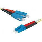Jarretière optique duplex monomode 2mm OS2 SC-UPC/LC-UPC (10 mètres)