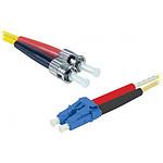 Liga óptica dúplex modo simple 2mm OS2 LC-UPC/ST-UPC (3 metros)