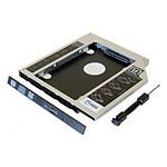"""Adaptateur HDD/SSD 2.5"""" pour ordinateur portable (12.7mm)"""