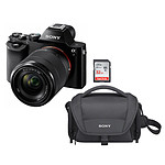 Sony Alpha 7 + Objectif 28-70 mm + LCS-U21 + SanDisk Ultra SDHC UHS-I 32 Go 80 Mb/s