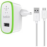 Belkin Chargeur secteur USB + Câble (F8M886vf04-WHT)