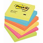 Post-it Bloc 100 feuillets 76 x 76 mm Energiques x 6
