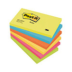 Post-it Block 100 hojas 76 x 127 mm Energético x 6