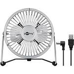 """Goobay Mini ventilateur USB 4'"""" (Argent)"""