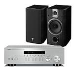 Yamaha MusicCast R-N303 Argent + Focal Chorus 605 Black Style