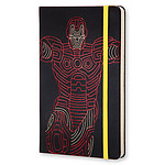Moleskine The Avengers Iron Man Ruled Large Noir