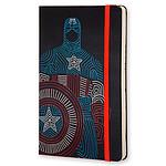 Moleskine The Avengers Captain America Ruled Large negro