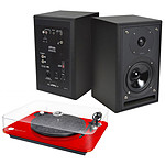 Elipson Omega 100 RIAA Rouge + Eltax Monitor III BT Phono Noir