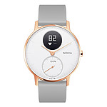 Withings Nokia Steel HR 36 mm Silicone Gris & Or Rose